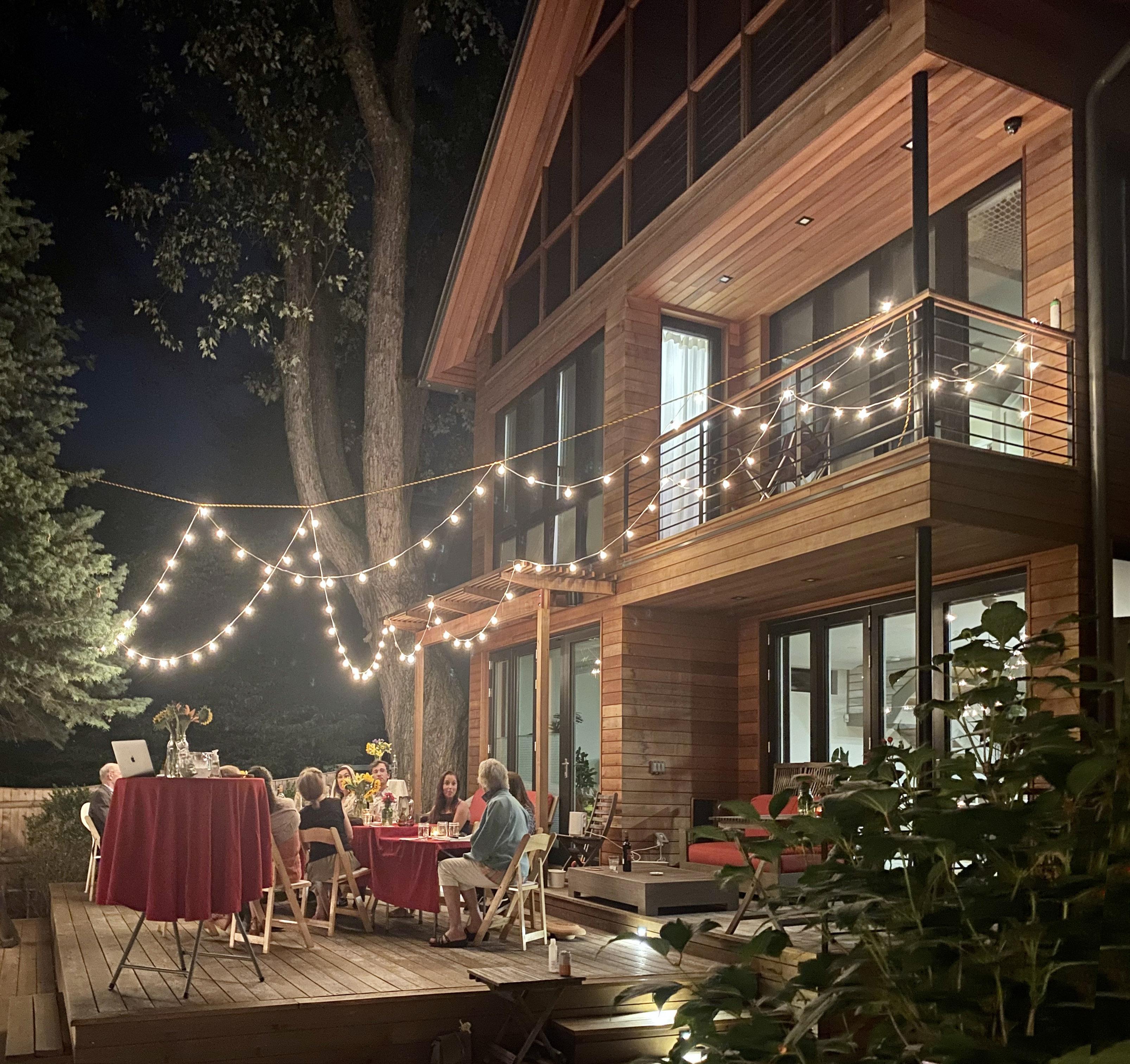 Passivehouse 29 Bellis Deck Nighttime