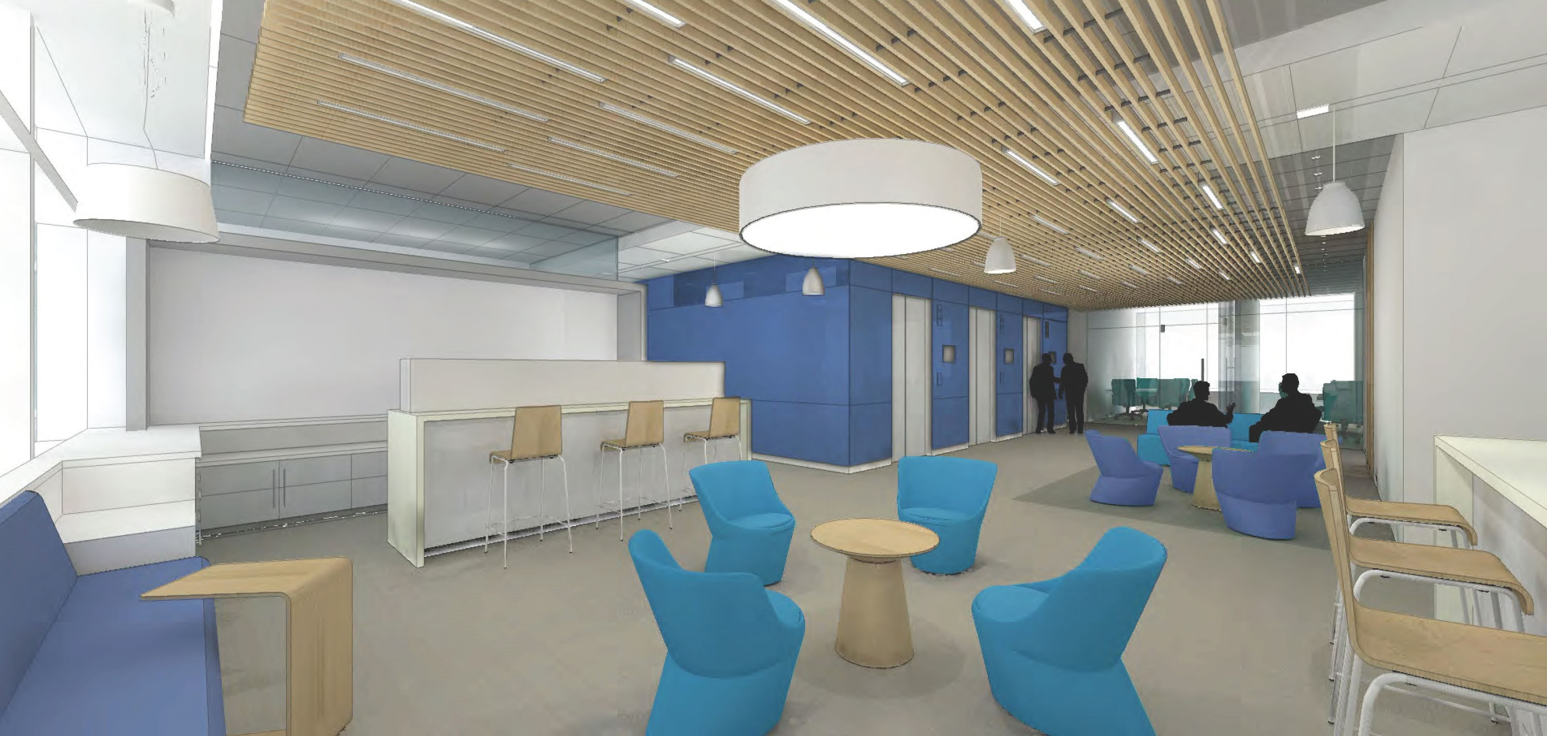 Office Lab Interior Rendering 2
