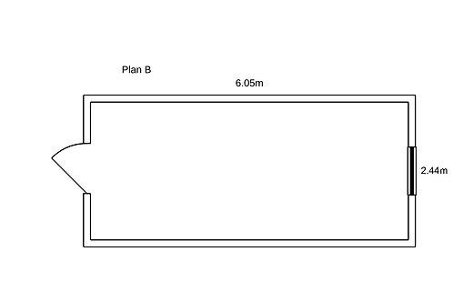 PLAN B - Container de bureau 20' ISO
