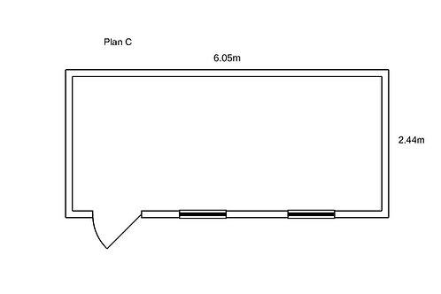 PLAN C - Container de bureau 20' ISO