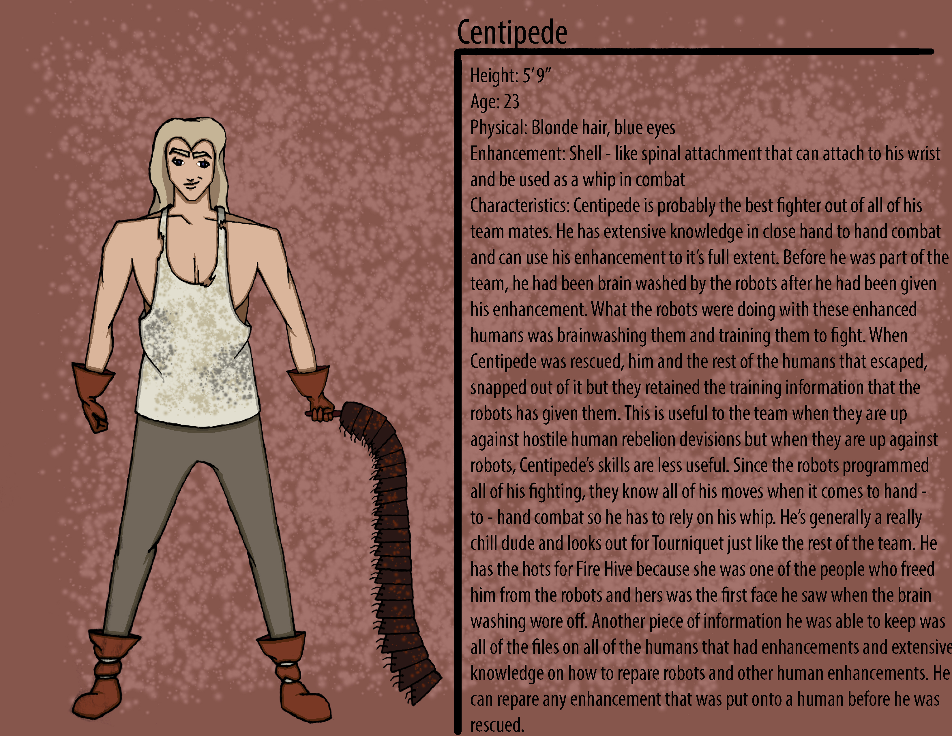 Centipede Character Description