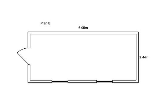 PLAN E - Container de bureau 20' ISO
