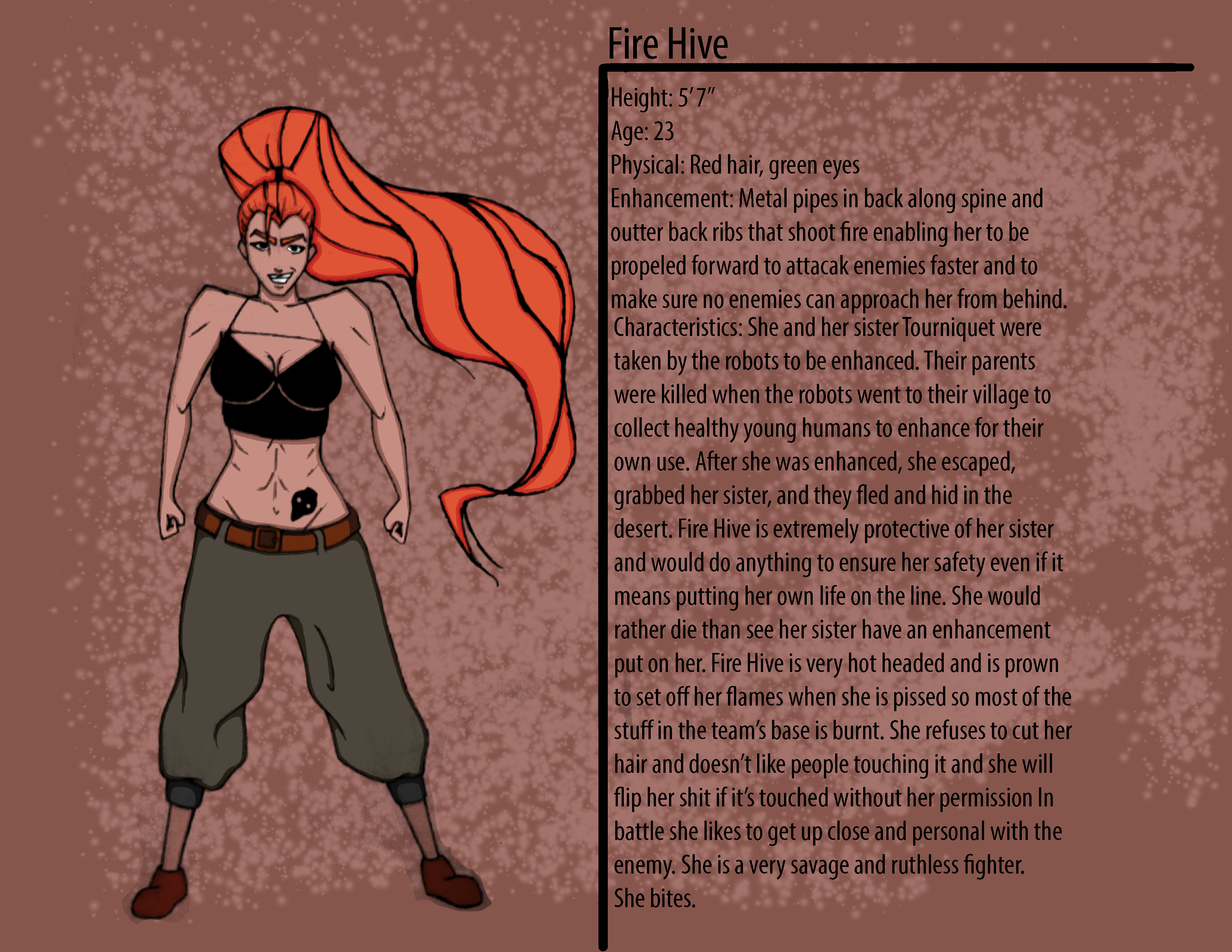Fire Hive Character Description