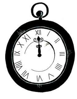 Inktober Day 14 Clock