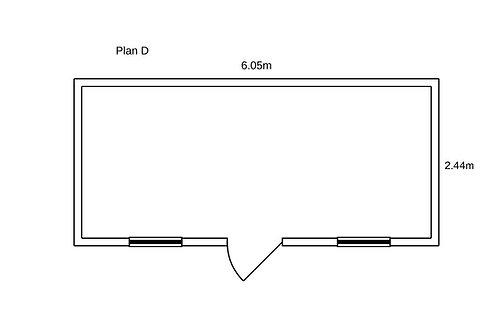 PLAN D - Container de bureau 20' ISO