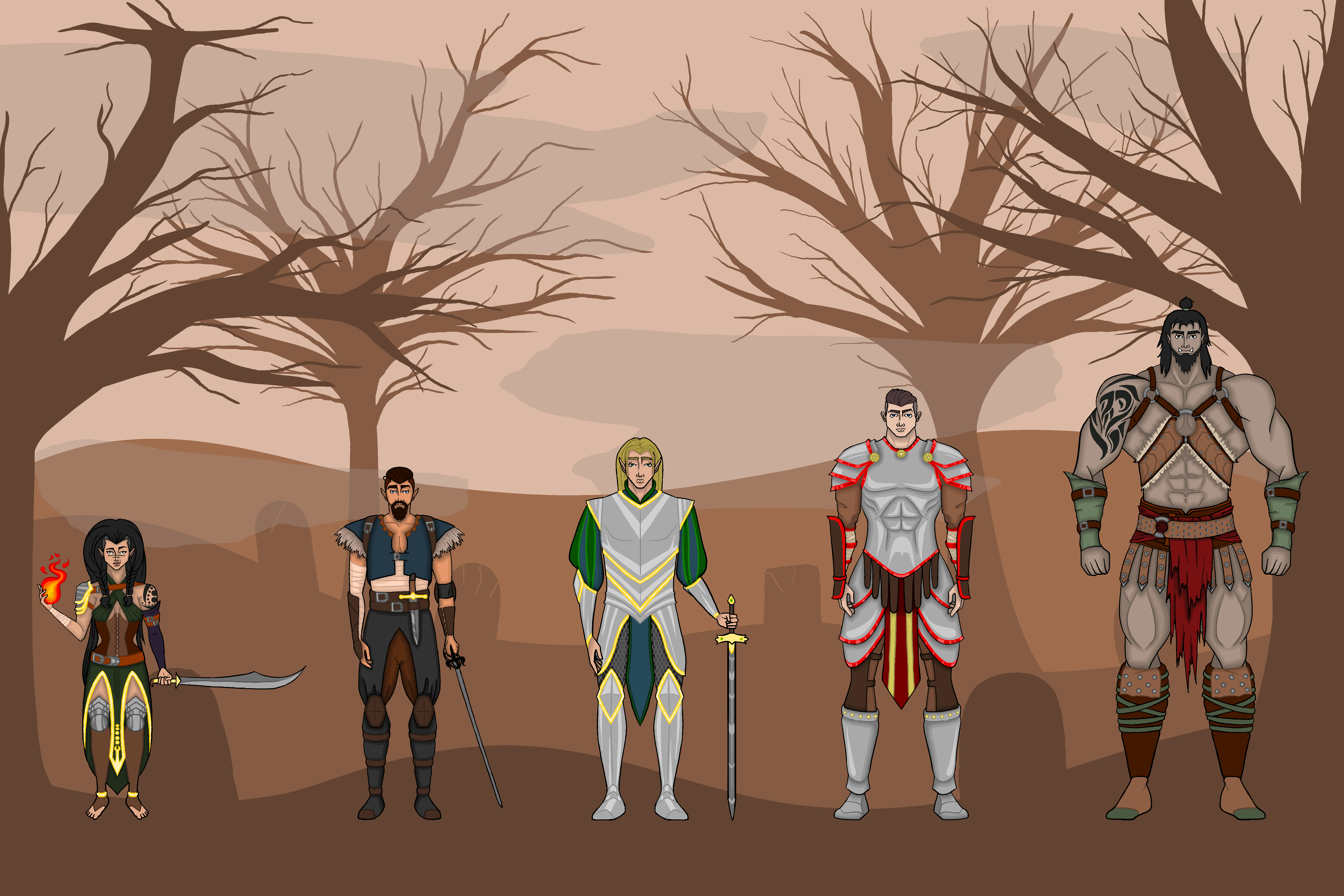 D&D Character Lineup