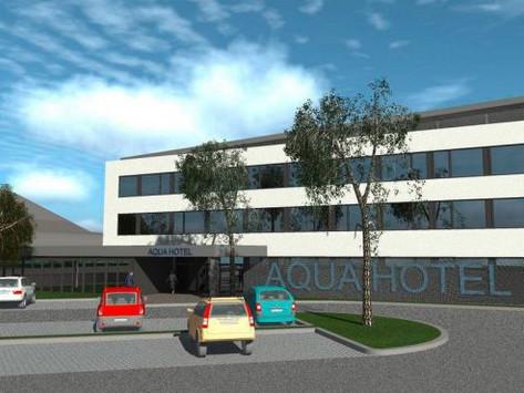 Megkezdődött az Aqua Hotel építése - A Kecskeméti Fürdő parkolójának egy része nem használható