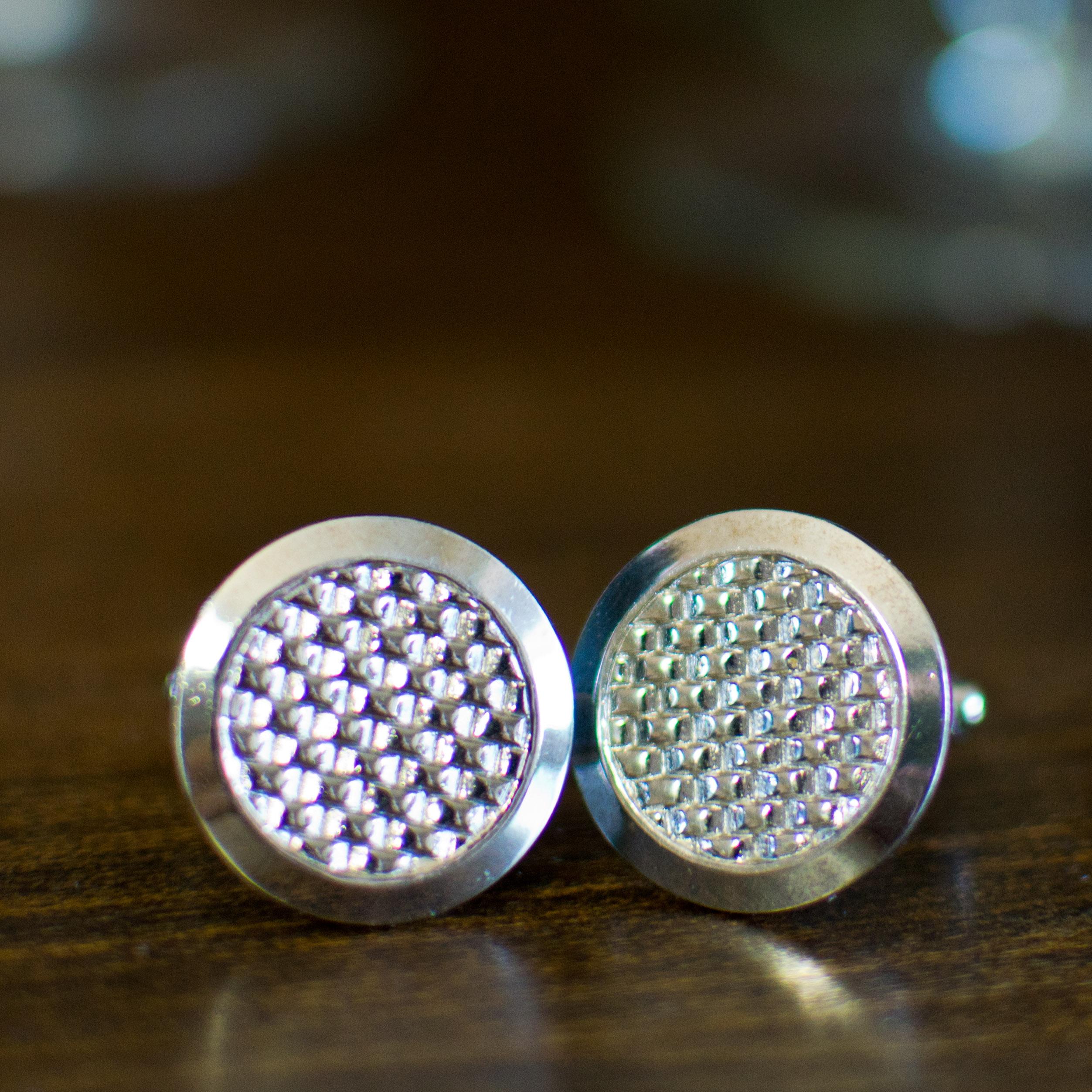 Vintage Silver Textured Cufflinks