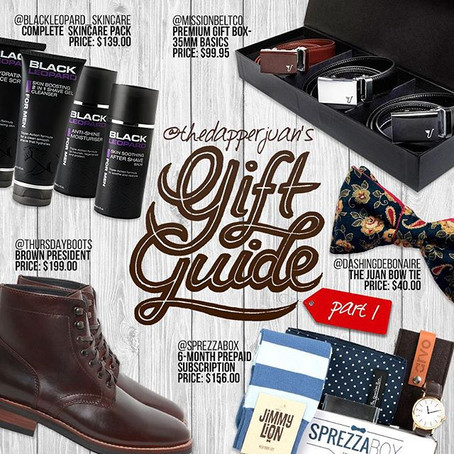 The Visual Holiday Gift Guide - Created By: @THEDAPPERJUAN