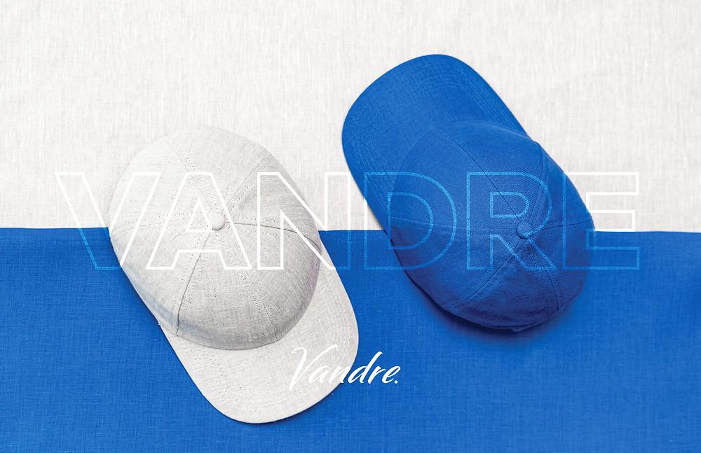 The Vandre Arashi Sand and Santorini Blue linen hats.
