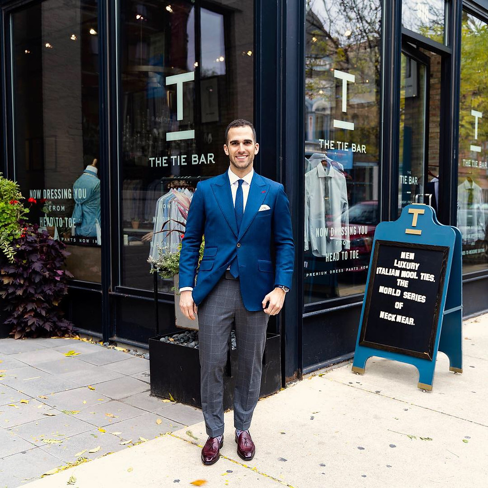 Dapper Professional at The Tie Bar store in Lincoln Park, Chicago.