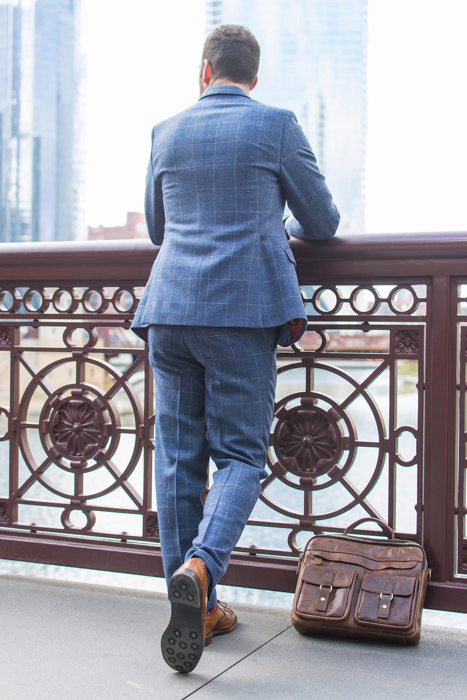 blue check tweed winter oliver wicks custom suit