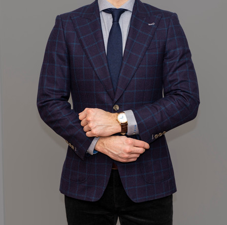 Indochino Custom Suit styled professionally for client meetings.