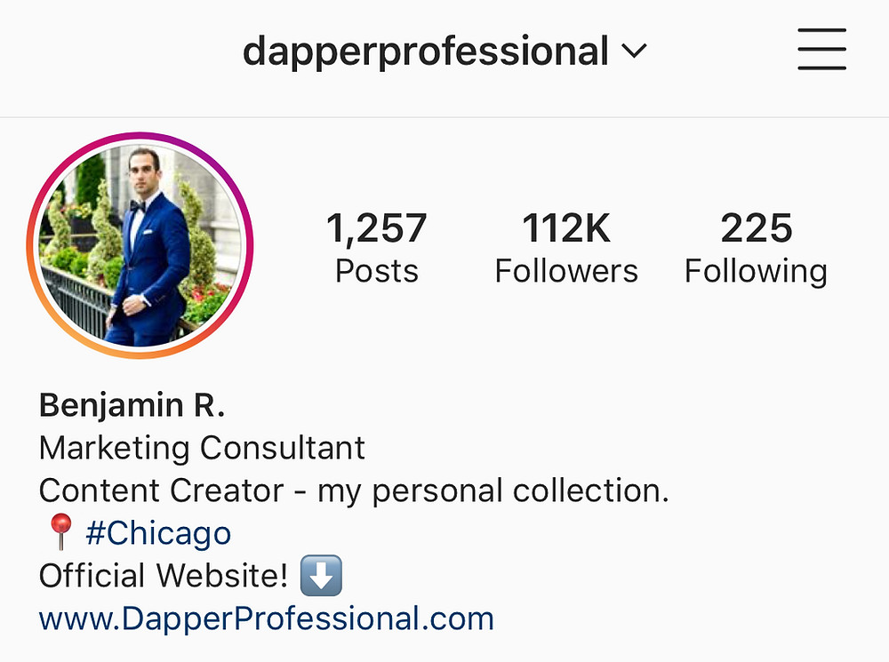 Dapper Professional Instagram