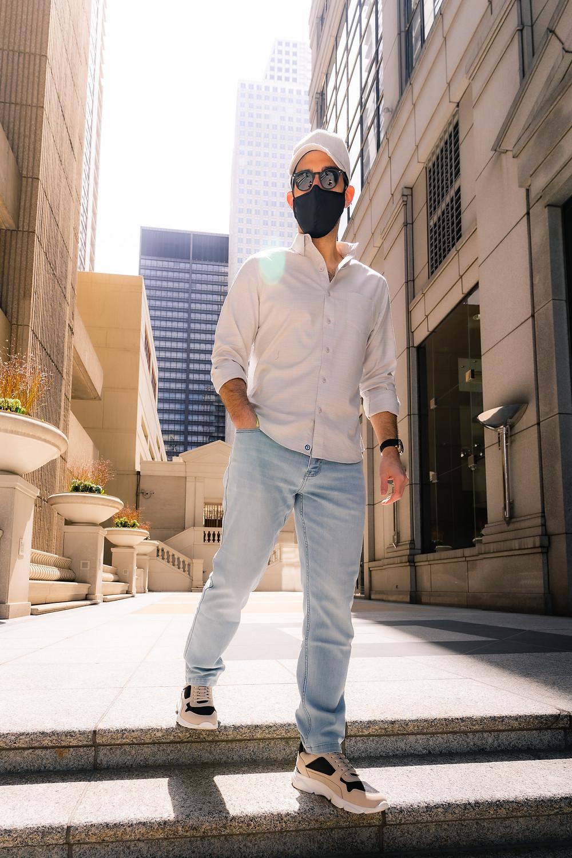 Wearing face masks in public