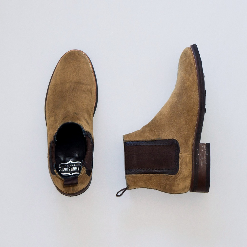 Thursday Boots honey suede Duke chelsea boot.