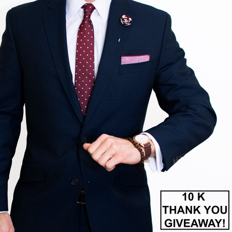 10,000 Follower Thank You and Giveaway! - Written By: @DapperProfessional