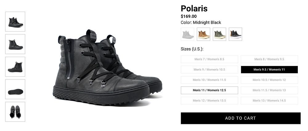 Polaris Boots by Coddi in Midnight Black