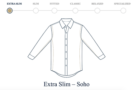 Brooks Brothers Soho fit dress shirt compared to the other available fits