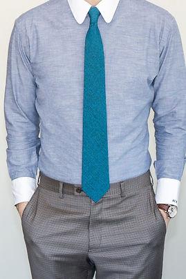 Dapper Professional styling a custom dress shirt.