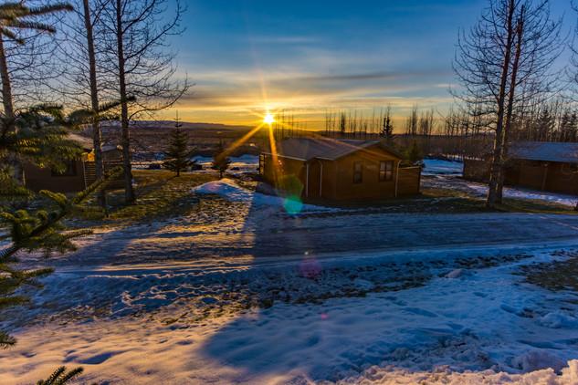 Iceland Terrain and Sunstars