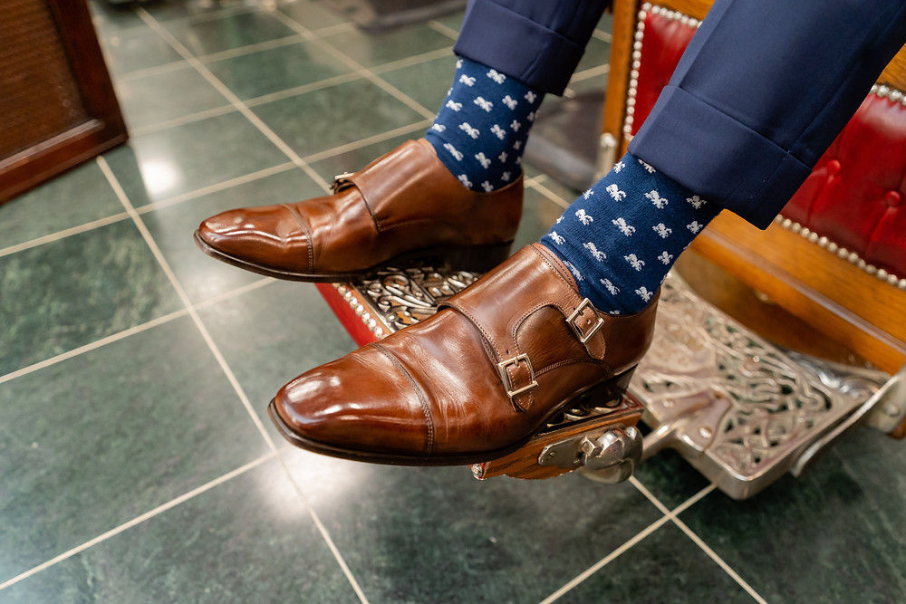 Dapper Professional's freshly shined shoes in Merchant & Rhoades in the 900 North Michigan Shops