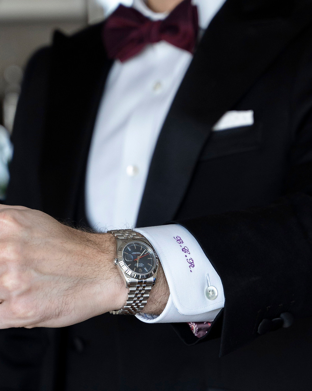 Black tie styling of the Rolex 116264 turn o graph
