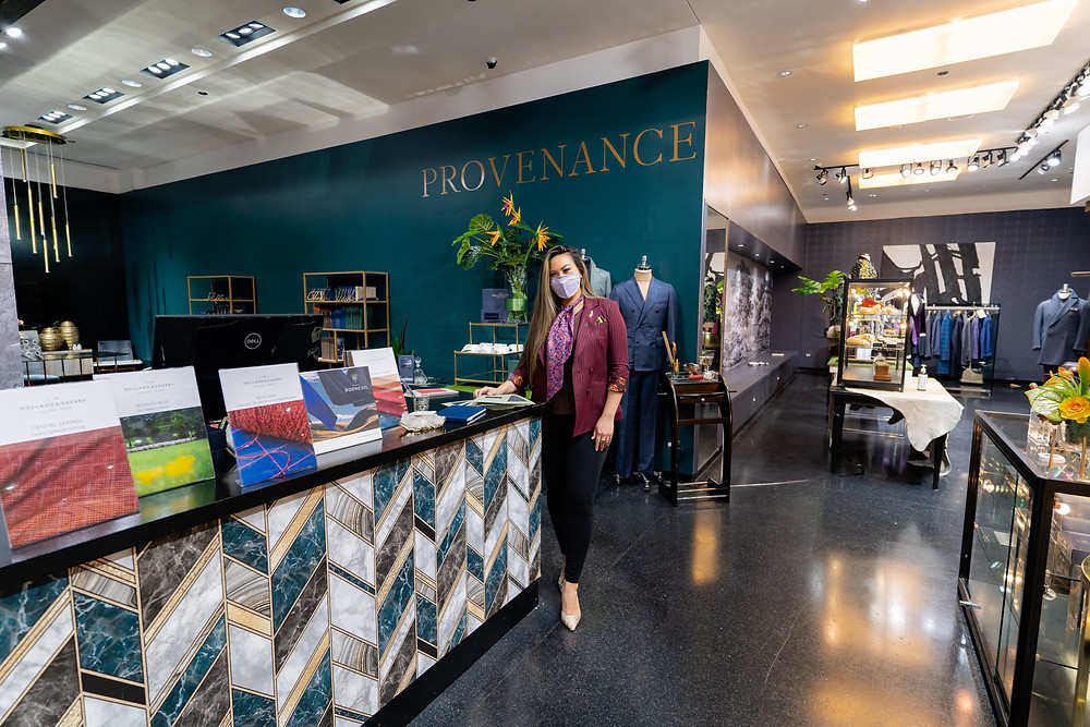 The owner of Provenance, Diana Michele standing at the front of her store