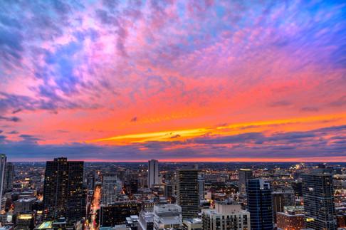Chicago Sunset HDR
