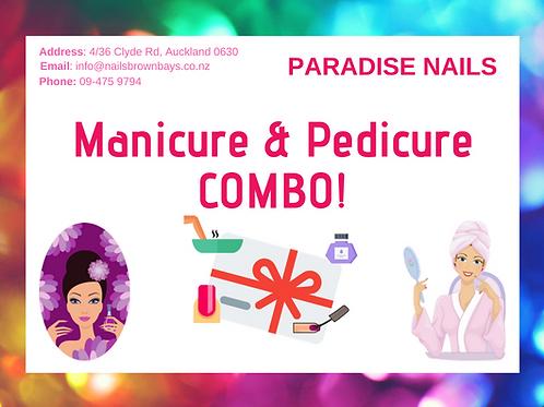 Manicure & Pedicure Gel/Shellac COMBO