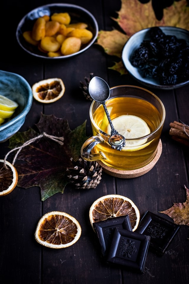 Hot Toddy drink made with honey and lemon