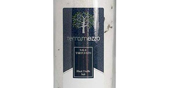 Terramezzo Black Truffle Salt Elegant Glass Vase   Versatile Seasoning Salt - TM