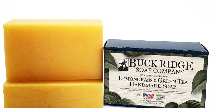 Lemongrass and Green Tea Handmade Soap - USDA Certified Organic