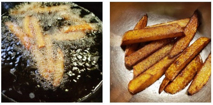 Seasoned fries cooking oil