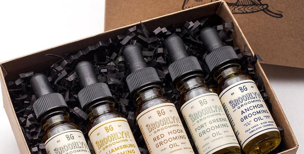 Grooming Oil sampler Gift Set