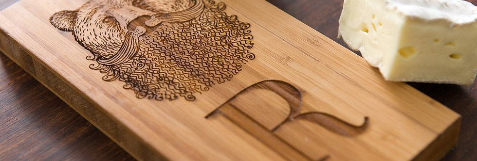 Bearded Bear Cheese Board, Personalized