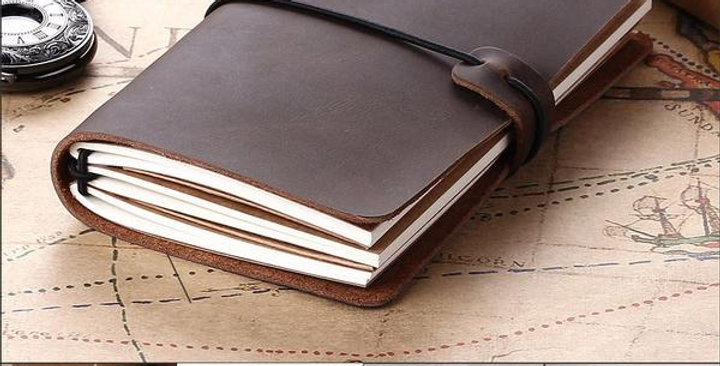 Genuine Leather Journal Writing Notebook, Refillable Handmade Travel Journals to