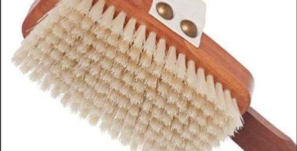 Oiled Pearwood Pig Bristle Bath Body Brush