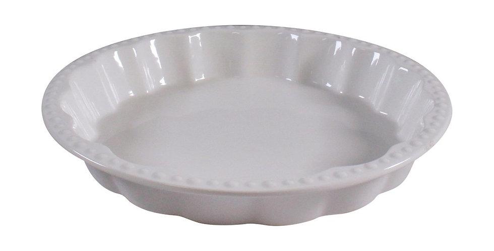 Ceramic Quiche Dish - Hobnail