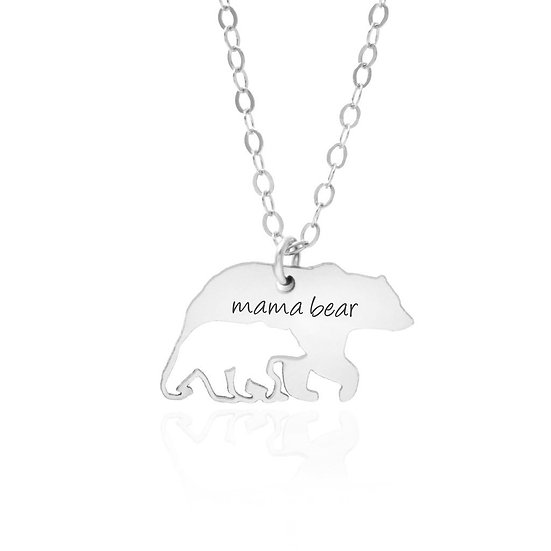 Mama Bear and Cub Necklace
