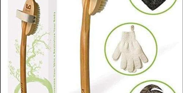 Pumice Stone & Charcoal Body Brush Set