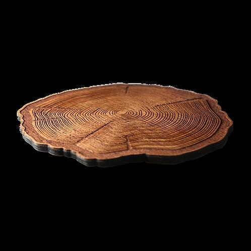 "Wooden Coasters 4"" (Tree Stump in Mahogany) 4-Pack"