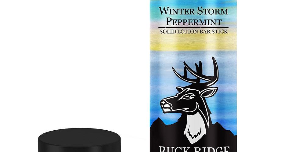 Winter Storm Peppermint Lotion Bar Stick