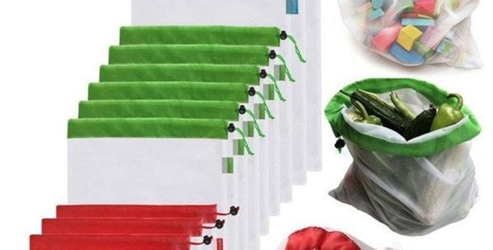 1PC Reusable Grocery Shopping Fruit Vegetable Toys Storage Mesh Produce Bag