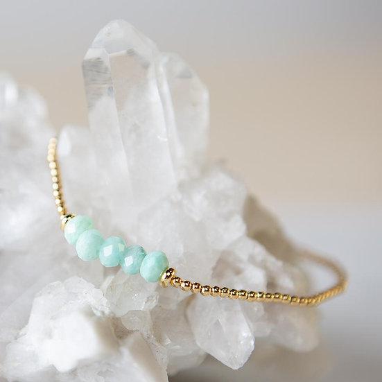 Lily Stretch Bracelet-Amazonite