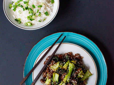 Mongolian Beef with Bok Choy