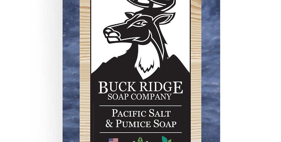 Men's Pacific Salt and Pumice Handmade Soap Bar