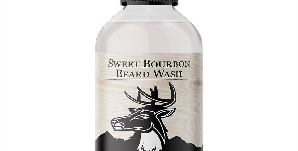 Men's Organic Sweet Bourbon Beard Wash