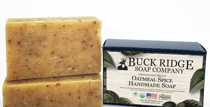 Oatmeal Spice Handmade Soap - USDA Certified Organic