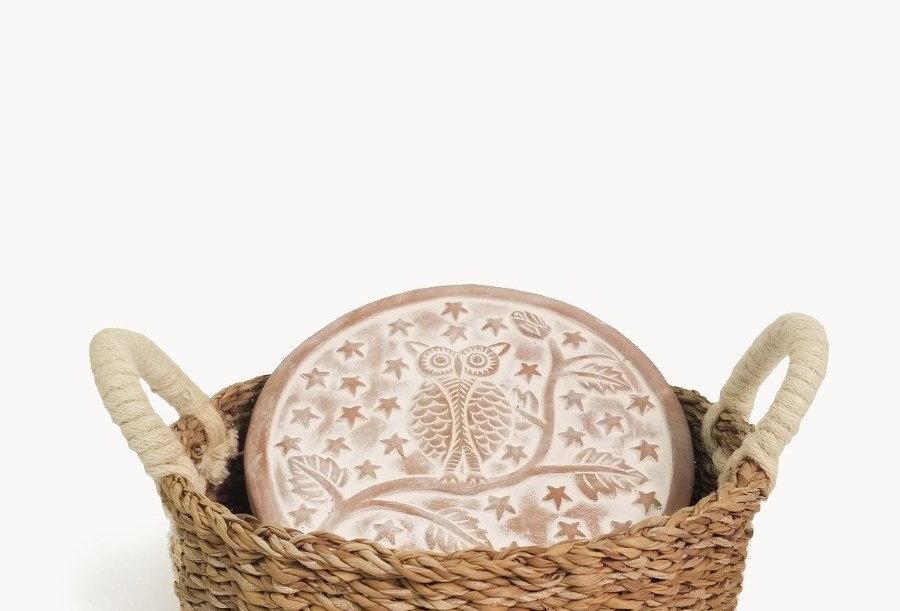 Bread Warmer & Basket - Owl Round